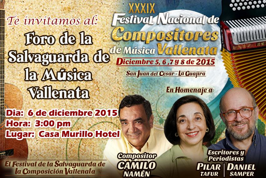 Foro de la salvaguarda de la composición vallenata en San Juan delCesar