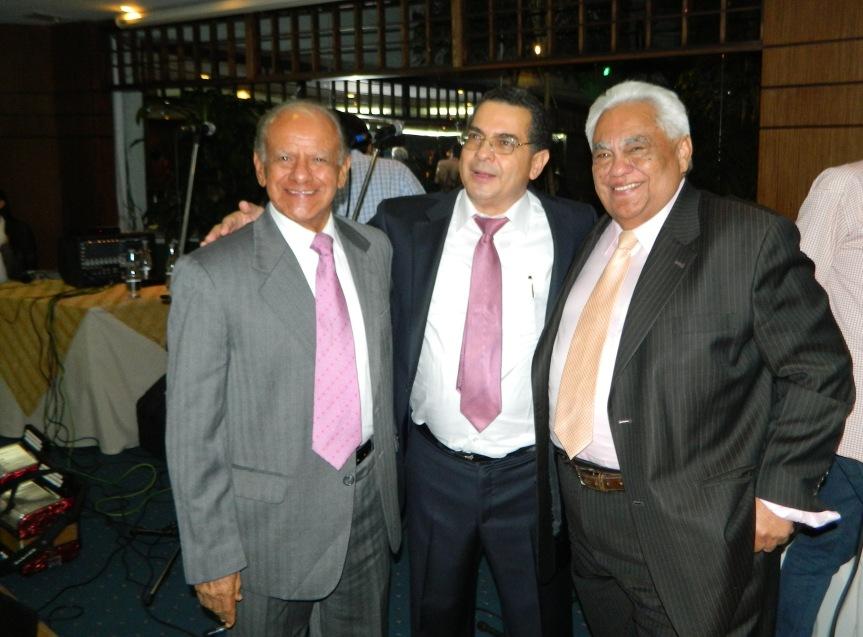 Ramón Gomez Ovalle exgober de La Guajira, Dr RAfael Valle Oñate y Pablo López