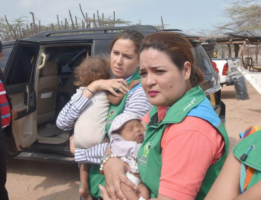 En Riohacha, tres niñas wayuu quedaron bajo protección delICBF