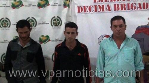 En Curumaní fueron capturados tres presuntos integrantes delELN