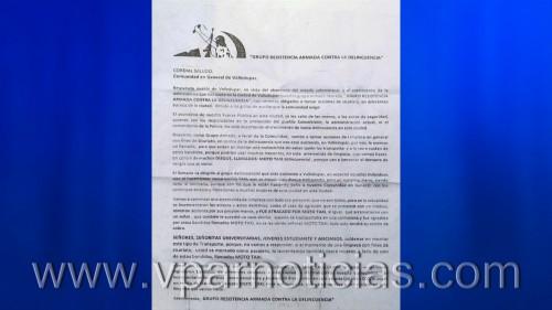 Coronel de la Policía Cesar se refiere a panfleto contramototaxistas