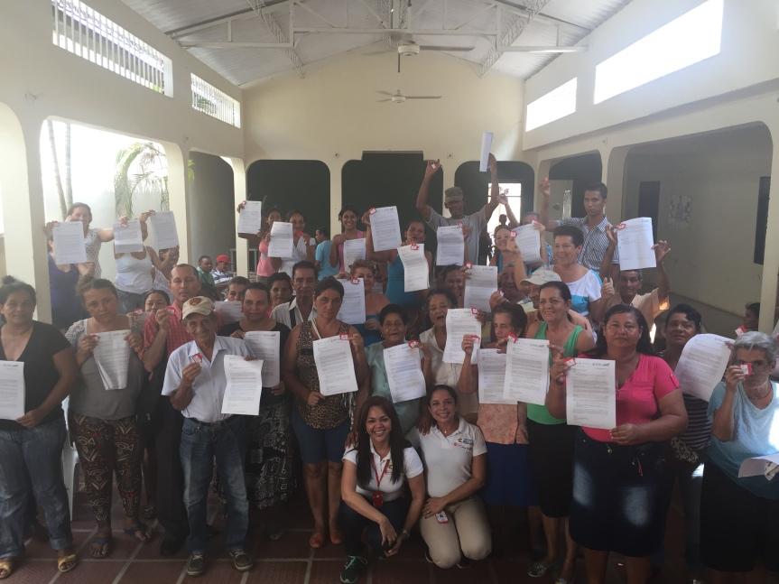 En Gamarra, Comfacesar sorteó 45 viviendas del Fondo deAdaptación