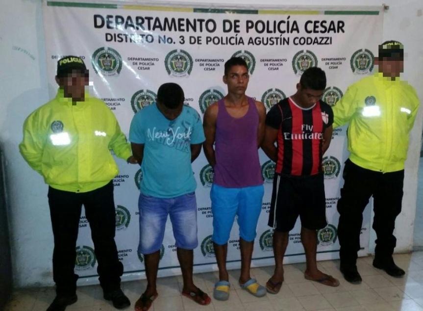 """En Codazzi fueron capturados tres integrantes de banda """"La 15"""" dedicada alhurto"""