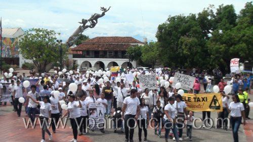 Marcha en Valledupar en contra de lainseguridad