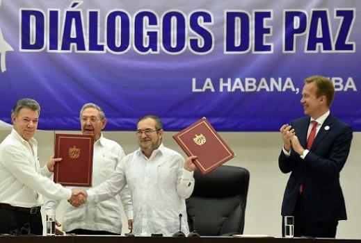 HistóricoAcuerdo sobre fin del conflicto con lasFarc
