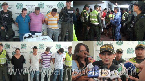 Policía Cesar realizó allanamientos, registro de cárcel y capturas  durante el pasado  fin desemana