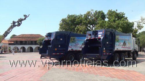 Alcalde e Interaseo presentaron nuevos vehículos para ampliar cobertura de recolección de basuras enValledupar