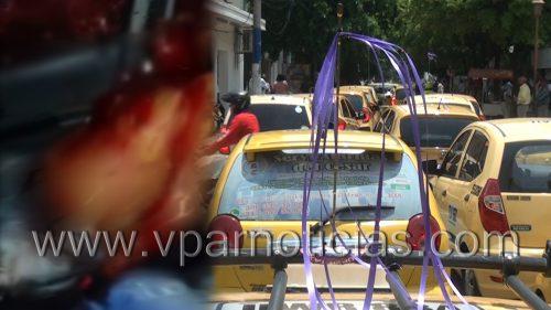 Protesta por homicidio de taxista enValledupar