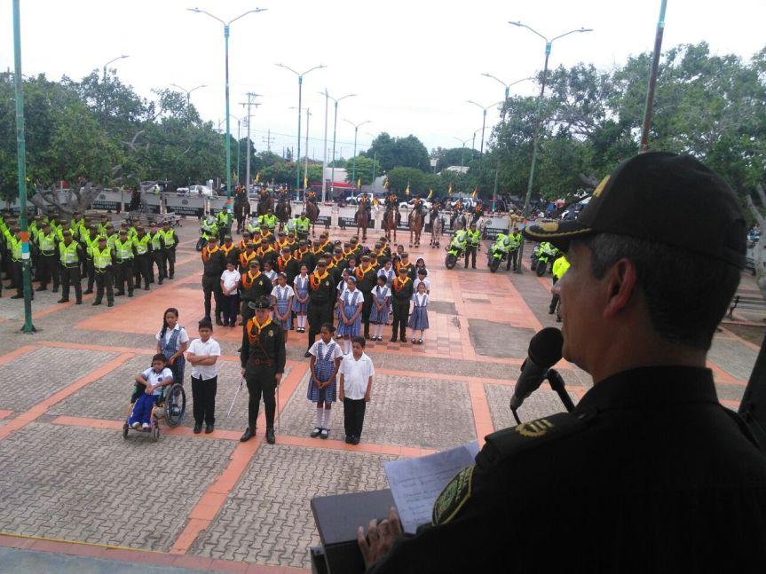 36 nuevos policías para el Cesar fueron presentados en LaPaz