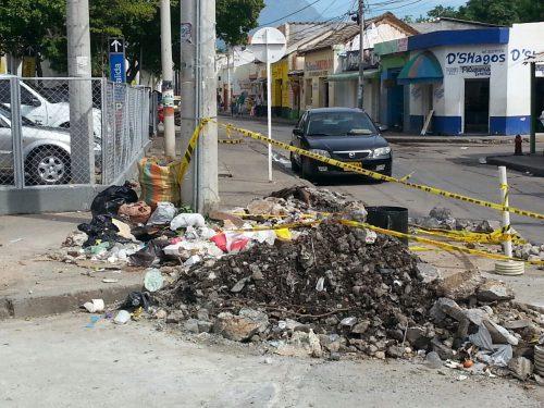 Esquina convertida enbasurero