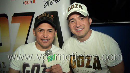 """Jorge Celedon y Sergio Luis Rodríguez  promocionan """"Goza"""""""