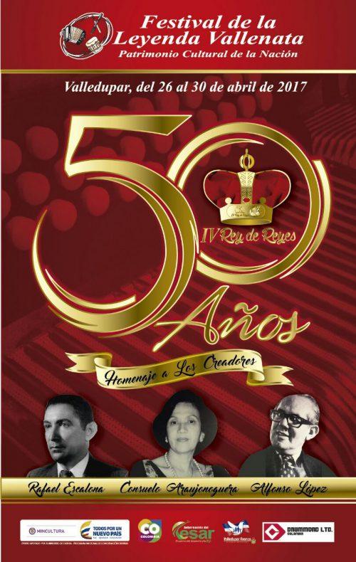 Afiche promocional del 50 FestivalVallenato