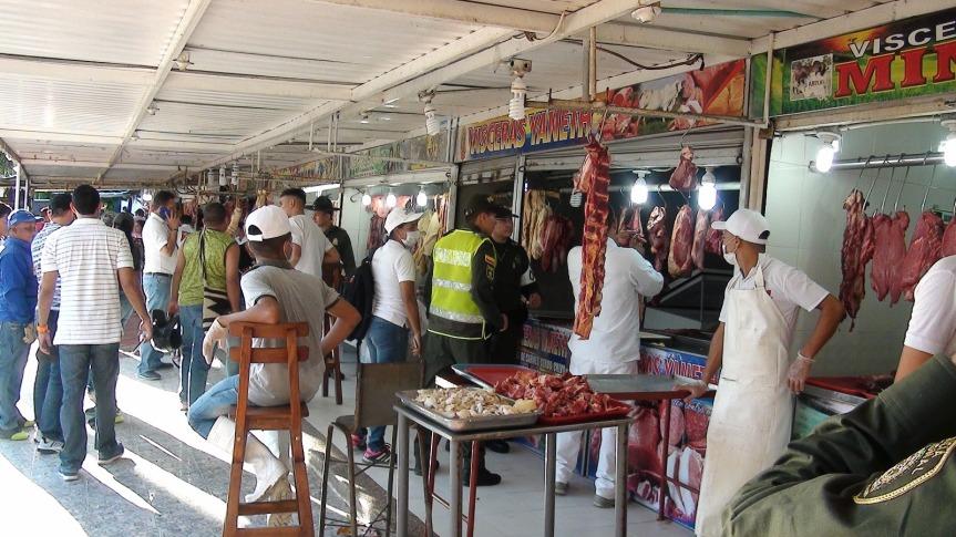Policia incautó más de una tonelada de carne por incumplimiento de condiciones sanitarias para consumohumano