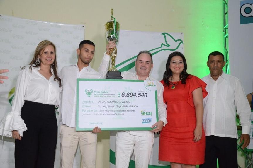 Gobernación y Acord premiaron a los mejores deportistas delaño