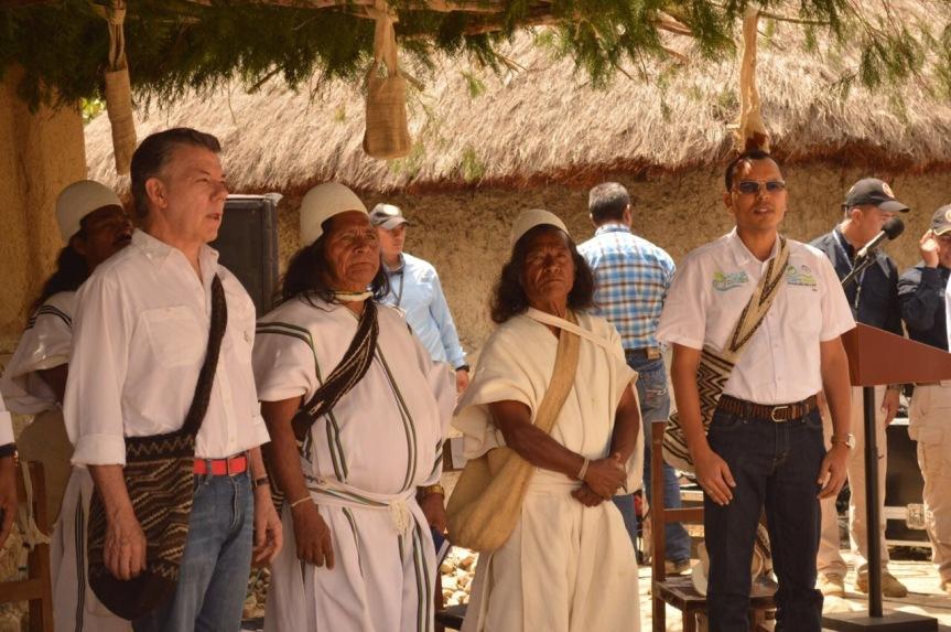 """Arhuacos recibieron 500 hectáreas para el proyecto """"Guardabosques, corazón delMundo"""""""