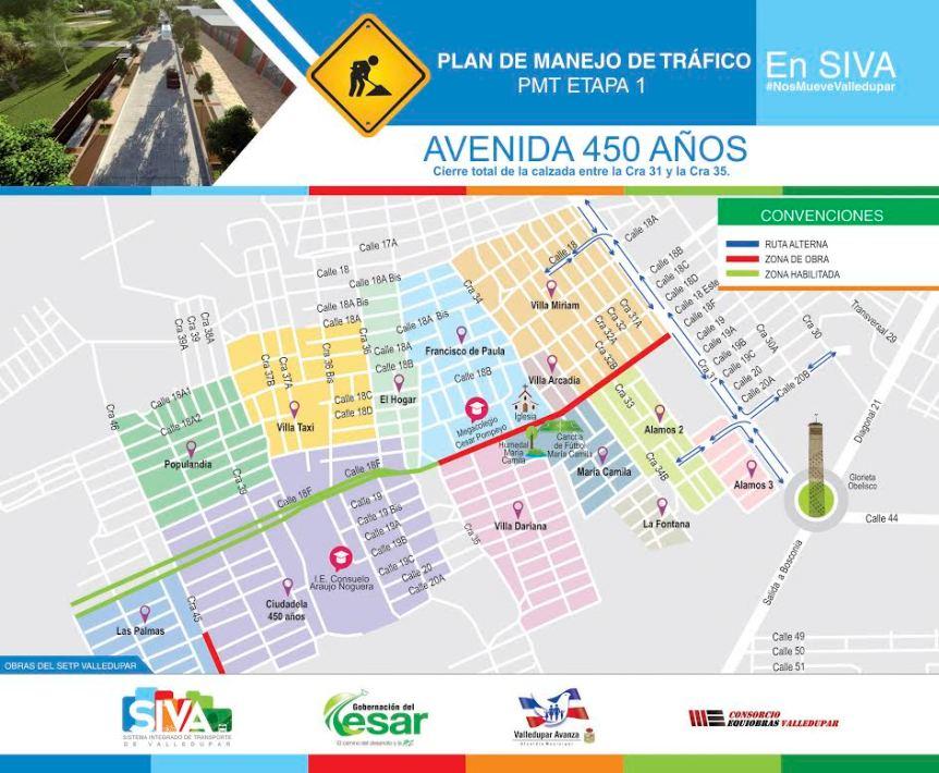El Siva socializa Plan de Manejo de tráfico para avenida 450años