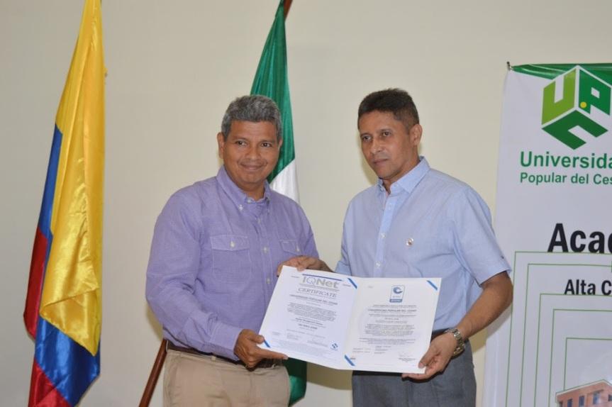 """""""Esta certificación es el camino al proceso de la Acreditación Institucional"""": rectorUPC"""