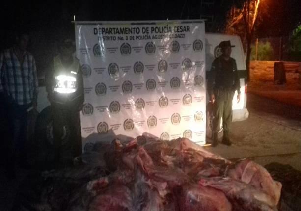 Más de 9 mil kilos de carne incautada enCodazzi