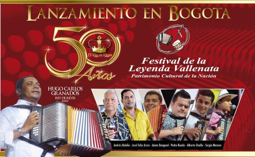 Lanzamiento del Festival Vallenato # 50, enBogotá