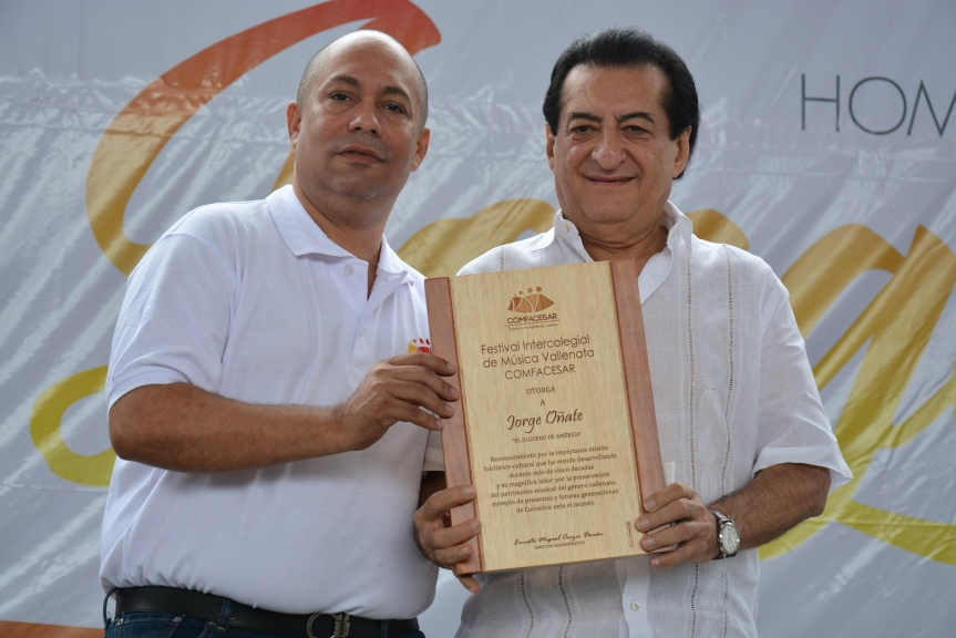 Festival de Comfacesar rindió homenaje a JorgeOñate