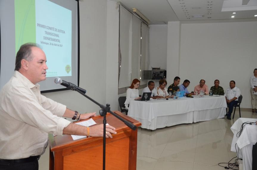 Gobierno departamental realizó primer Comité de Justicia Transicional del2017