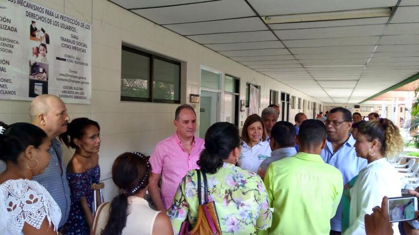 Gobernador verificó prestación de servicios en el Rosario Pumarejo e inspeccionó obras en UnidadOncológica