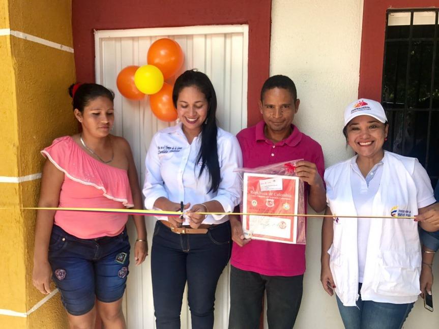 En Chiriguaná, Comfacesar entregó 83 viviendas del Fondo deAdaptación
