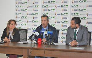 gerente general ICA Luis Humberto Martínez en rueda de prensa