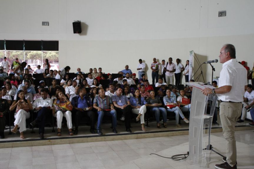 Mensaje del gobernador del Cesar a población en proceso dereintegración
