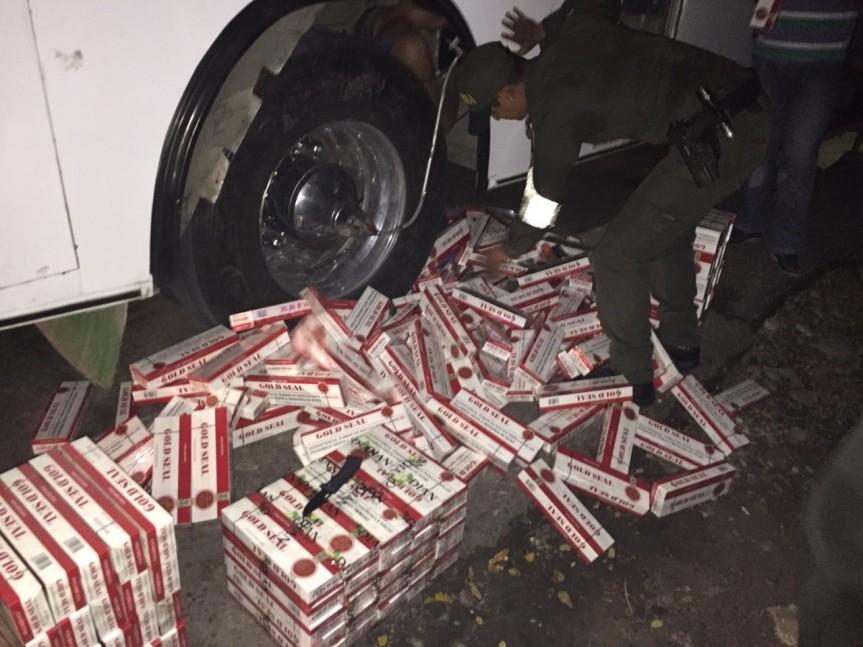 Golpe al contrabando de cigarrillos y otrasmercancías
