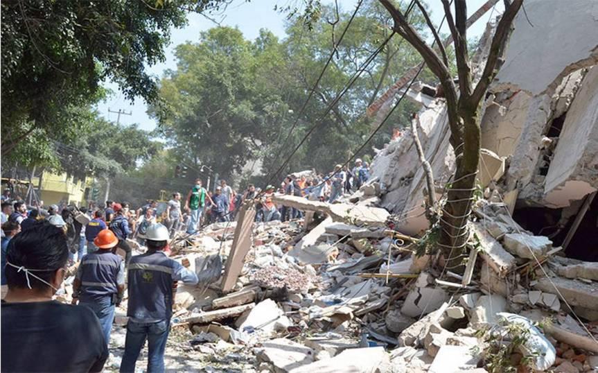 Pánico, dolor y  muerte por terremoto que sacudióMéxico