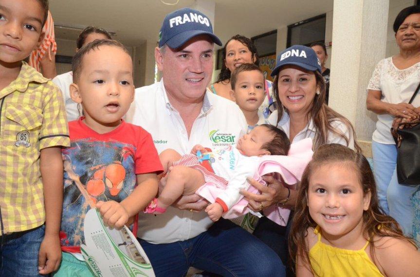 Gobernador Ovalle llevó su oferta social a La Jagua de Ibirico, Becerril y SanDiego