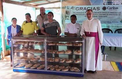 Caritas italiana y Diócesis de Valledupar donaron elementos de panadería a personas en proceso dereincorporación