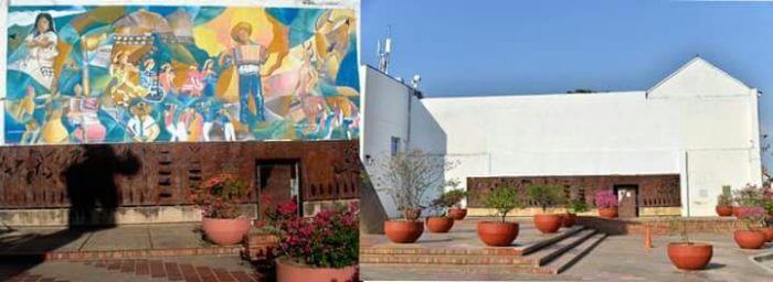 antes y después mural del profesor Piedrahita