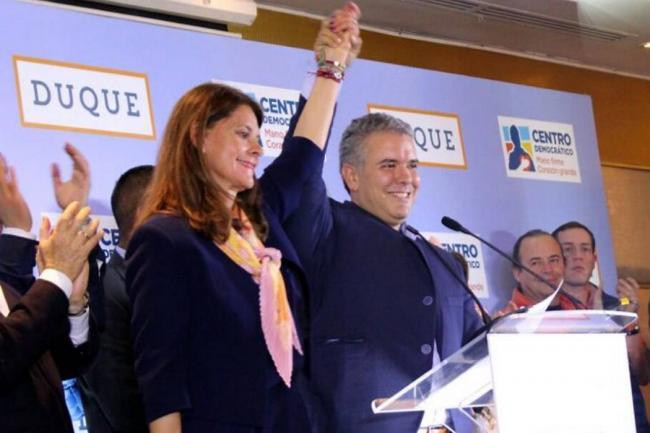 marta lucía Iván Duque - foto Vanguardia.com
