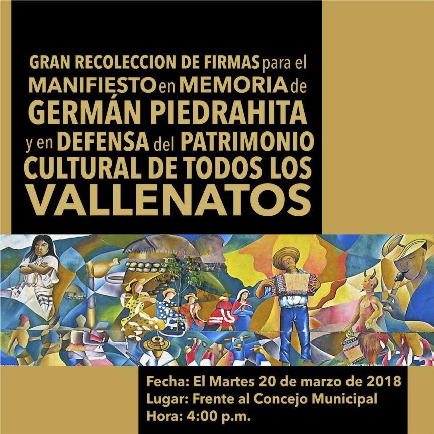 Gran recolección de firmas para el manifiesto en defensa del patrimonio cultural de losvallenatos