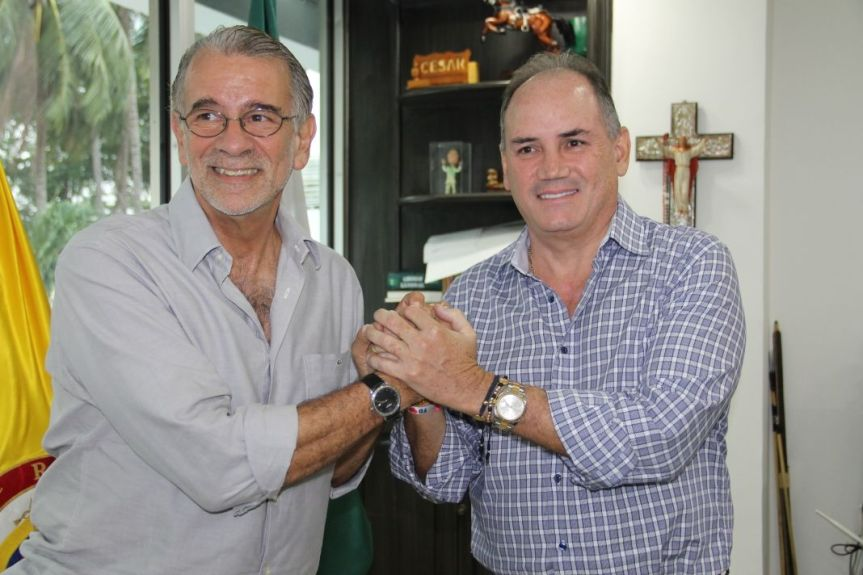 En reunión con gobernador del Atlántico, mandatario del Cesar presentó proyectosestratégicos