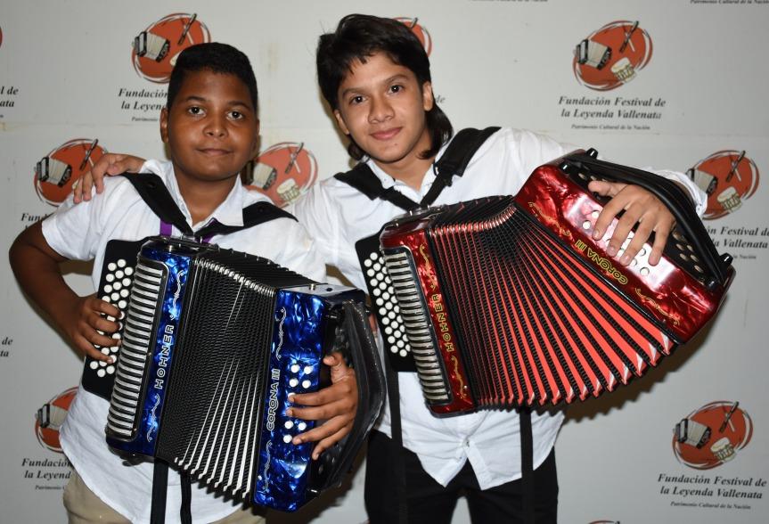 Jerónimo Andrés Villazón Murillo y Yerson Robles Peña, los nuevos Reyes Vallenatos en las Categorías Infantil y Juvenil
