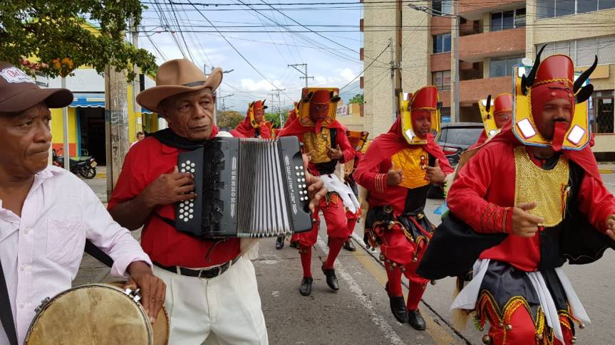 Diablos del Corpus Christi Valledupar foto Paul Bolaños