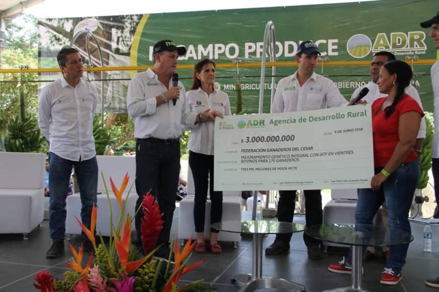 Asociaciones agropecuarias cesarenses beneficiarias de recursos de la Agencia de DesarrolloRural-ADR