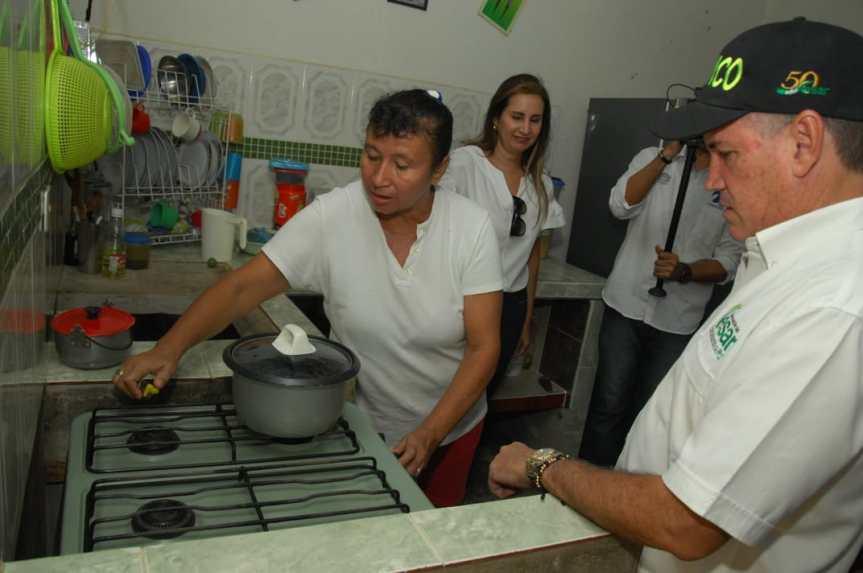 Gobernador Ovalle hizo entrega oficial de 4.027 conexiones de gas domiciliario en el municipio deAguachica