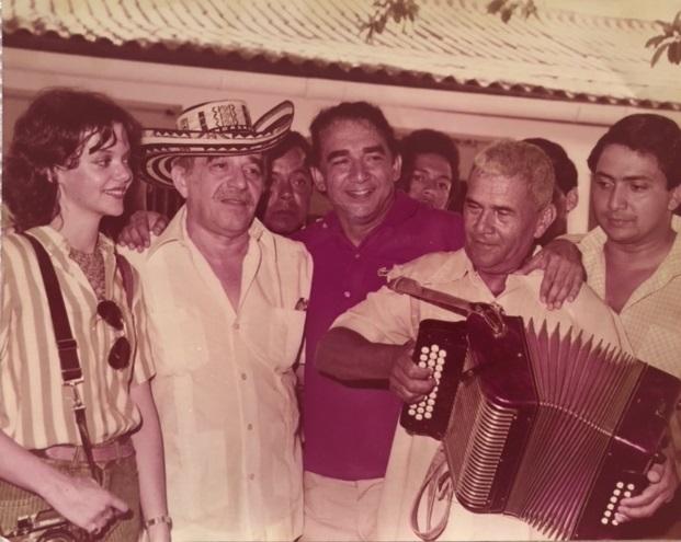 Emiliano Zuleta Baquero con Gabriel García Márquez