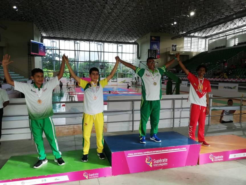 Con 23 medallas, el Cesar culmina su participación en la Fase Nacional de los JuegosSupérate Intercolegiados2017