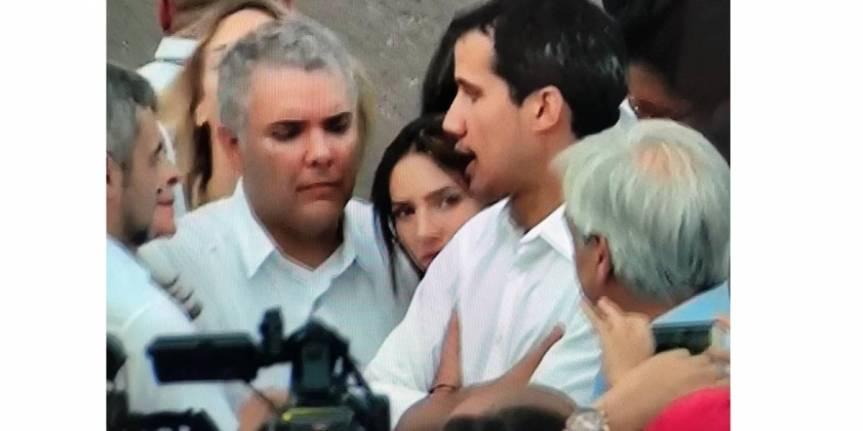 En medio del Concierto 'Venezuela Aid Live', presidentes Duque y Guaidó protagonizaron emotivo encuentro