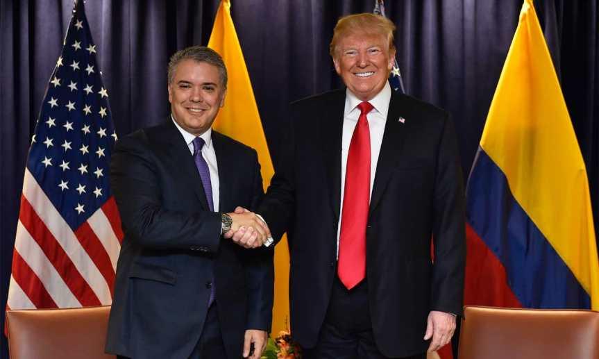 """Reunión con el Presidente Trump """"deja fortalecida la relación bilateral entre Colombia y Estados Unidos"""":Duque"""
