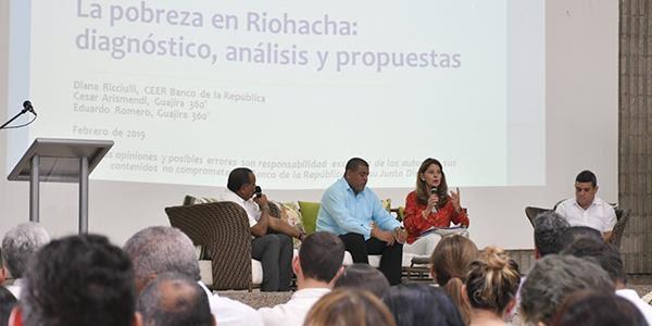 Vicepresidente Marta Lucía Ramírez participó en conversatorio sobre el informe La pobreza enRiohacha