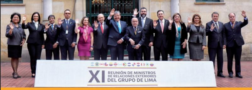 Declaración del Grupo de Lima en apoyo al proceso de transición democrática y la reconstrucción deVenezuela