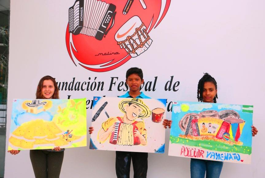 10 años del concurso de pintura infantil del FestivalVallenato
