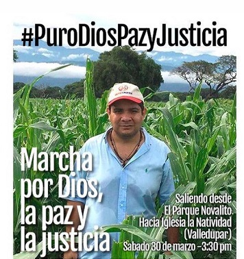 """Marcha para que se haga justicia por crimen de """"Puro""""Ustáriz"""