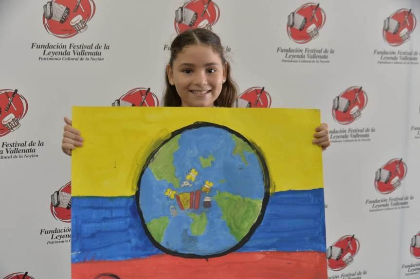 Angela Sofía Corro, ganadora del concurso de Pintura Infantil 2019